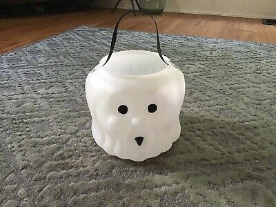 Vintage Halloween Candy Pail Bucket Blow Mold Ghost Goblin