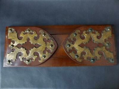 Antique Extending Late Victorian Extending Book Shelf Brass Decoration