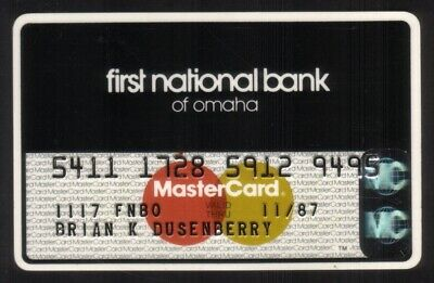 First National Bank of Omaha MasterCard Credit Card Exp 11/87
