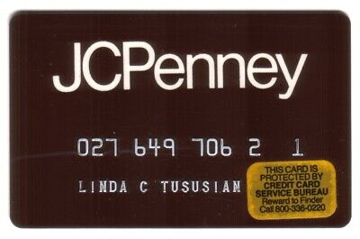 JC Penny Stores Regular Size (Brown) Merchant Credit Card
