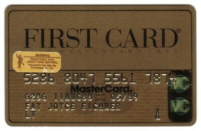 First Card (FCC National Bank) Gold MasterCard Credit Card Exp 05/89