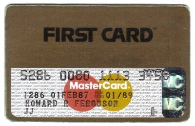 First Card (FNB of Chicago) MasterCard Credit Card Exp 01/89 (Smudges/Scratches)