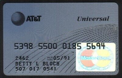 AT&T Universal Bank MasterCard Credit Card Exp 05/91