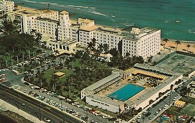 """*Florida Postcard-""""The Hollywood Beach Hotel"""" /Ocean Front Resort/ (PM 1966)"""