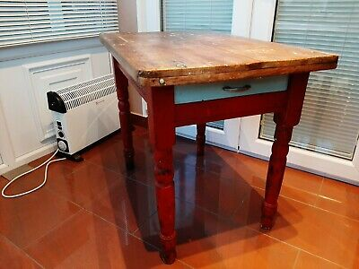 Genuine victorian pine scrub top original paint great patina great look