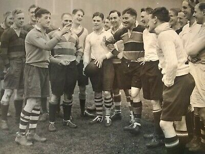 England v Wales Rugby Union Press Photograph 1937