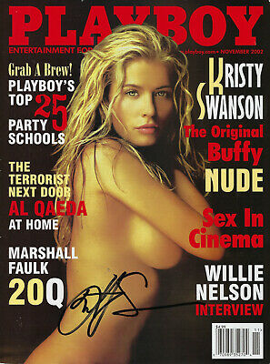Kristy Swanson Signed Autographed Playboy November 2002 Buffy The Vampire Slayer
