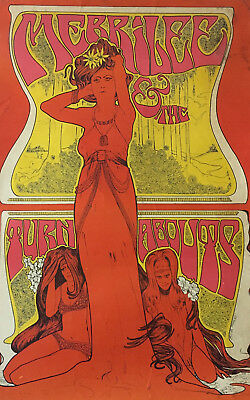 60er Psychedelic Poster Merrilee & the Turnabouts LSD Very Rare Bob Masse 1967