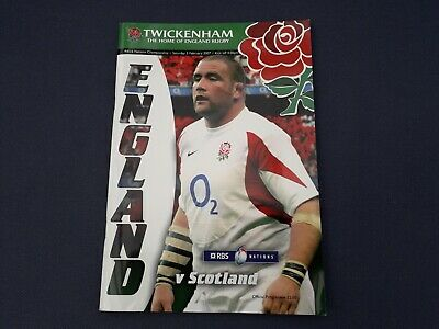 England Rugby Programme vs Scotland 2007 RBS 6 Nations