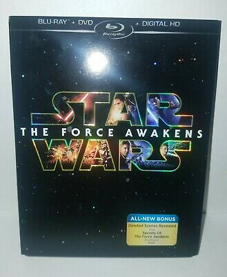 Star Wars The Force Awakens Blu-Ray + DVD Combo Blu Ray Excellent Condition
