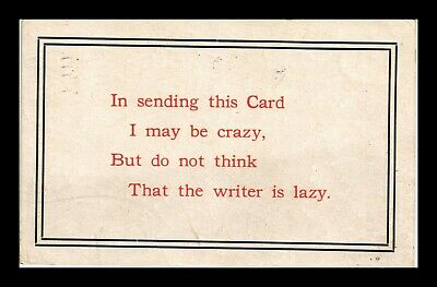 Us Postcard Humorous Do Not Think Writer Is Lazy