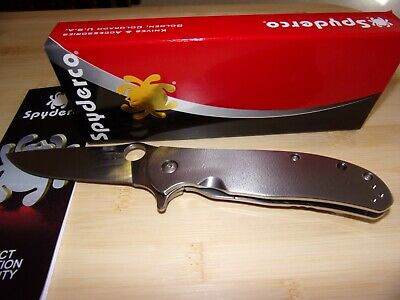 Spyderco Advocate Titanium Handle Framelock Stainless Folding Blade Knife (New)
