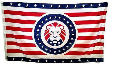 President Donald Trump MAGA LION 3x5 Ft FLAG Red White Blue Republic