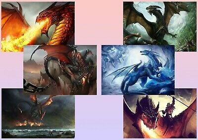 Fantasy Dragon A5 A4 A3 Textless Posters