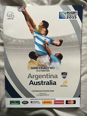 2015 rugby world cup programme (Australia Vs Argentina)