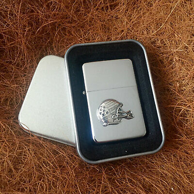 Star Cigarette Lighter /w Pewter American Football Emblem FREE Gift Tin