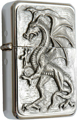 Star Lighter /w Pewter Standing Dragon Emblem /w Metal Gift Tin