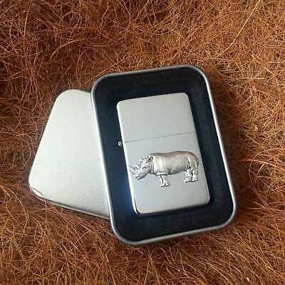 Star Cigarette Lighter /w Pewter Rhino Emblem FREE Gift Tin