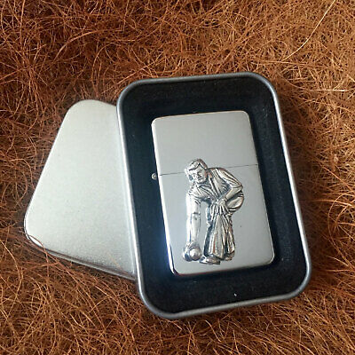 Star Cigarette Lighter /w Pewter Bowels Bowling Emblem FREE Gift Tin