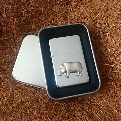 Star Cigarette Lighter /w Pewter Hippo Emblem FREE Gift Tin