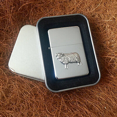 Star Cigarette Lighter /w Pewter Sheep Farm Emblem FREE Gift Tin