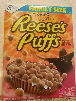 LIMITED EDITION Travis Scott Reese's Puffs Family Size Cereal