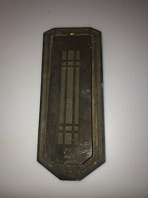 Antique Vtg American Device Art Deco Victorian Cast Brass Door Wall Mail Slot