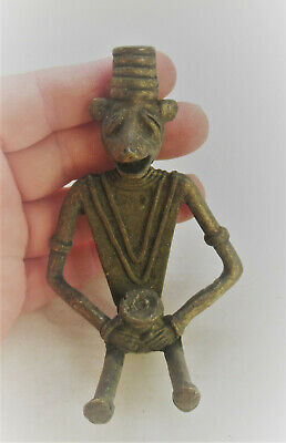 Unresearched Ancient Near Eastern Bronze Figurine Very Unusual Specimen