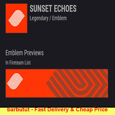 DESTINY 2 Sunset Echoes Emblem +1FREE READ description FAST CHEAP