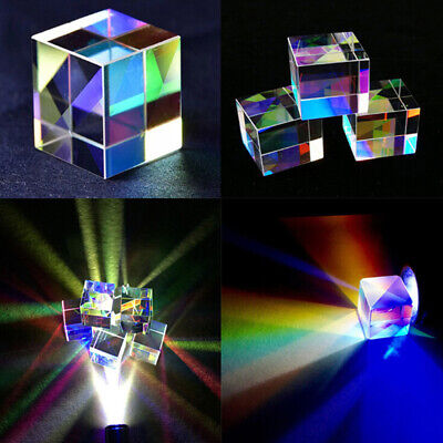 1Pc Optical Glass X-cube Dichroic Cube Prism RGB Combiner Splitter Science T TKH
