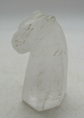 Circa 200Bc-200Ad Ancient Bactrian Rock Crystal Statue Fragment Horse Head