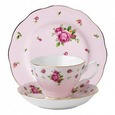 Royal Albert New Country Roses Pink Vintage 3 Piece Tea Set - HURRY LAST 6!