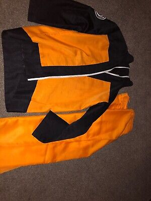 Naruto Shippuden Uzumaki Cosplay Costume Jacket & Pant Size Are Medium