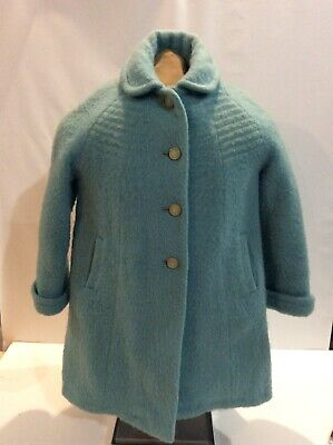 ADORABLE Vintage 1950s Original Curtsy Coats Girls Wool Winter Coat Blue