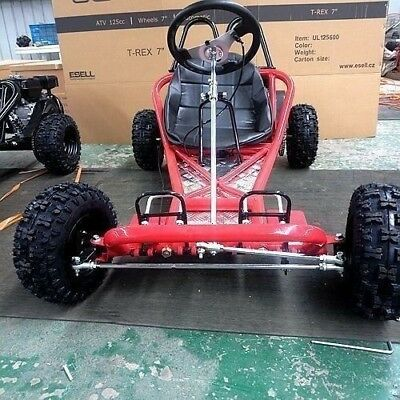 200CC 6.5HP Go Kart ATV QUAD Dune Buggy 4 Stroke Upgraded Auto Adult Kids Sizes