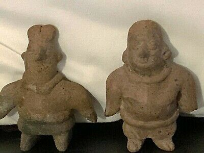 Pre-Columbian Colima Rare  Matched Pair Standing Perfect Condition