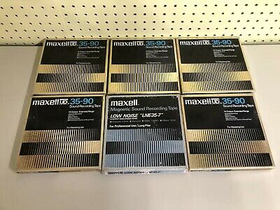"** Vintage MAXELL REEL TO REEL TAPES 7"" Lot Of 6 ** Used / Rock Music *"
