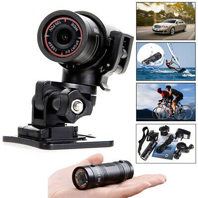 F9 HD 1080P DV Mini Waterproof Sports Camera Helmet Bike Action DVR Cam Video