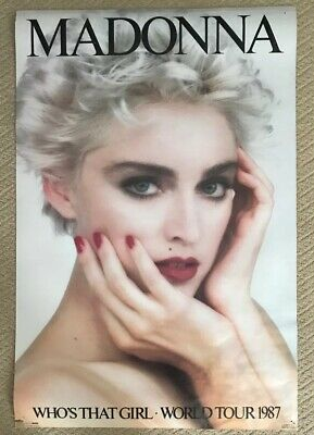 Madonna Who's That Girl World Tour 1987 Vintage Poster Herb Ritts 36' x 24'