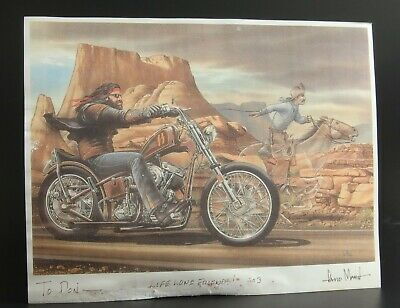 DAVID MANN Signed Print Easyriders Magazine Ghostrider Pony Express 1% MC MBEDM