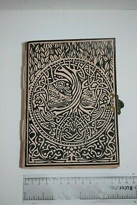 Celtic design tree Hand crafted Leather Book of shadows spells Journal Keepsake