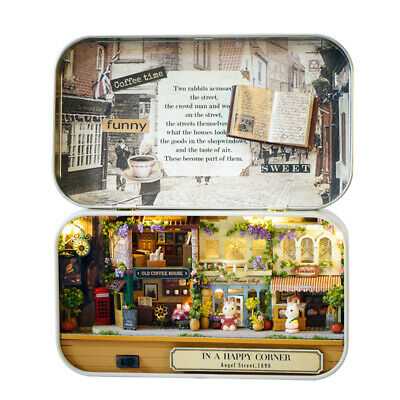Funny Wooden Puzzle Box Theater DIY Miniature Dollhouse Model Gift Kids Toy K3I3
