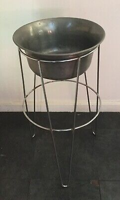 A Vintage Metal Stand With Bowl/Ice Bucket
