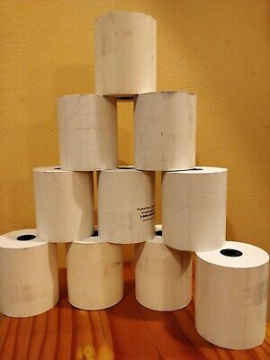 """3 1/8"""" x 230' White Thermal PoS Receipt Paper 10 Rolls"""