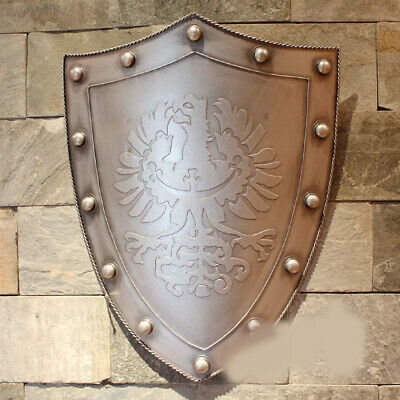 D13 Europe Retro Medieval Shield Antique Knight Armour Wall Home Decor Full Size