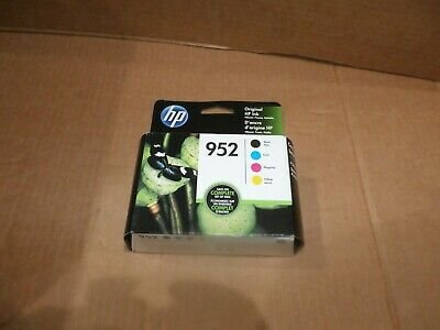 NewGenuine HP 952 Black Cyan Magenta Yellow Ink 4-Pack Exp10/2020 Fast Shipping