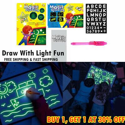 A4/A3 Draw With Light Fun And Developing Toy Drawing Board Magic Draw Education