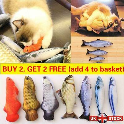 Funny Cat Playing Toy Fish Shape Realistic Pet Interactive Kitten Playing Catnip