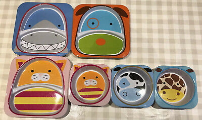Skip Hop ZOO 3x Plates And 3x Bowls