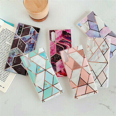 For Samsung S8 9 S10 Note10 A50 A70 Case Marble Hard Case Slim Shockproof Cover